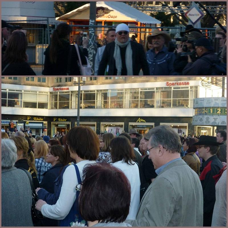 Flashmob mit Dj Oetzi, Berlin-Alexanderplatz