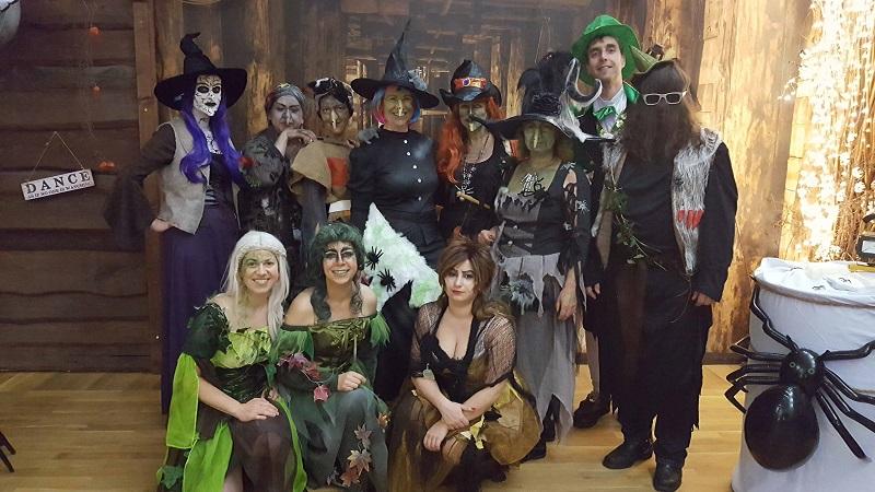 Halloween Hexen hexen, Auftritt, Country Linedancer