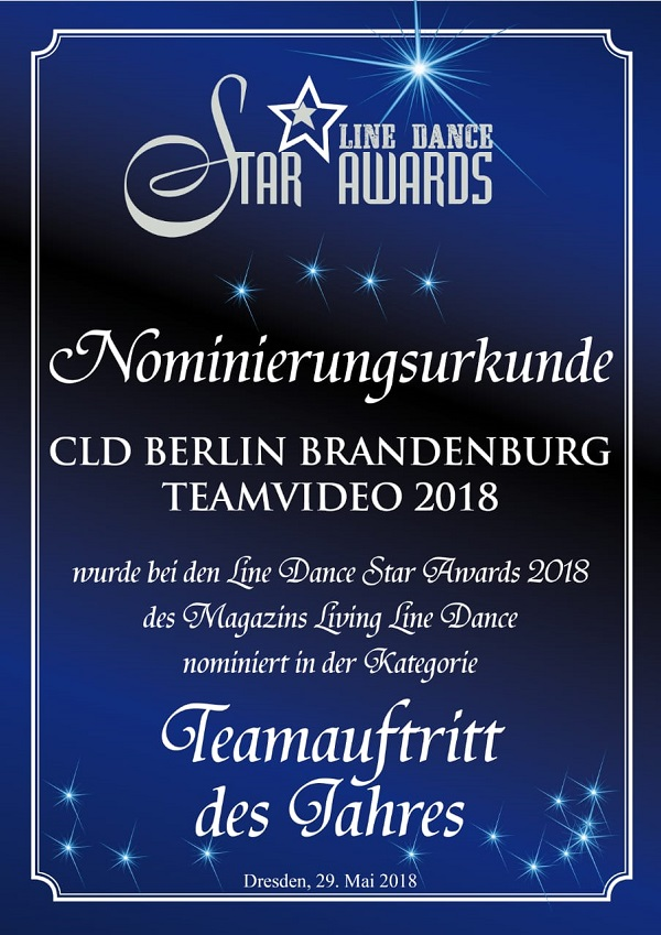 Country Linedancer Berlin Brandenburg e. V., Line Dance Star Awards, Silvia Schill, #linedancestarawards #SilviaSchill