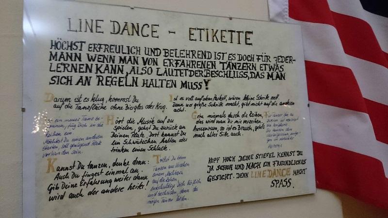 Line Dance Etiquette